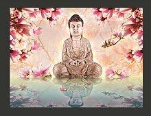 Fototapete Buddha und Magnolia 309 cm x 400 cm