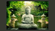 Fototapete Buddhas GArten 210 cm x 300 cm