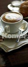 Fototapete Cafe, Cappuccino als Türtapete,