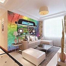 Fototapete Cartoon Auto Moderne Wandbild Tapete 3D