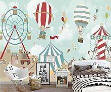 Fototapete Cartoon Heißluftballon Zirkus