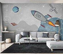 Fototapete Cartoon-Rakete Vlies Wallpaper