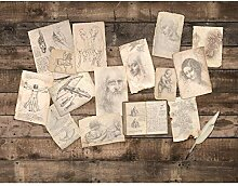 Fototapete Collage Leonardo da Vinci - Vlies Wand