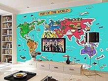 Fototapete Coon World Map Murals Für Jungen Und