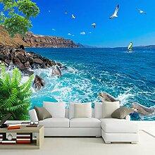 Fototapete Delfinmöwen mit blauem Himmel und