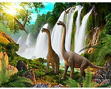 Fototapete Dinosaurier 396 x 280 cm Vlies Wand