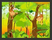Fototapete Dschungel - Affen 154 cm x 200 cm