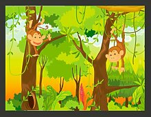 Fototapete Dschungel - Affen 309 cm x 400 cm East