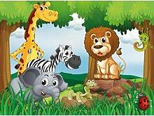 Fototapete Dschungel-Tiere 1845 cm x 50 cm 7-tlg.