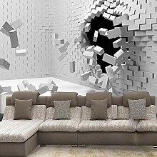 Fototapete Durchbrich Die Mauer 3D Wandbilder Für