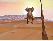 Fototapete Elefant 396 x 280 cm Vlies Wand Tapete