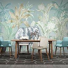 Fototapete Elefantenblätter 3D Wandbilder Für