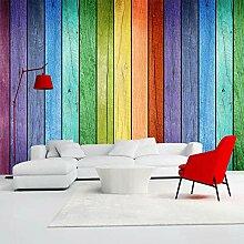 Fototapete Farbiges Holz 3D Wandbilder Für