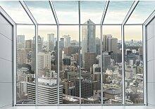 Fototapete Fenster 1.04 m x 152.5 cm East Urban