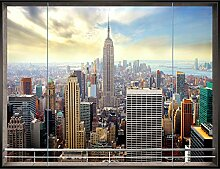 Fototapete Fenster nach New York 350 x 250 cm -
