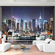 Fototapete Fenster nach New York 352 x 250 cm Vlies Wand Tapete Wohnzimmer Schlafzimmer Büro Flur Dekoration Wandbilder XXL Moderne Wanddeko - 100% MADE IN GERMANY- NY Stadt City - Runa Tapeten 9026011b