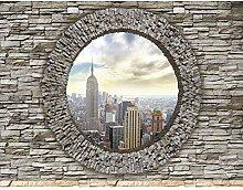 Fototapete Fenster nach New York Vlies Wand Tapete