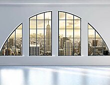 Fototapete Fenster nach New York Wand Tapete