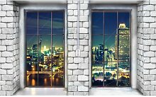 Fototapete Fenster Papier 3 m x 460 cm East Urban