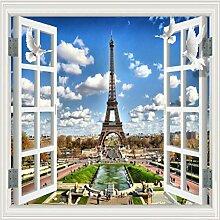 Fototapete Fenster-Paris-Turm-Landschaftsvlies
