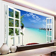 Fototapete Fenster-Strand-Meerblick-nichtgewebte
