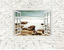 Fototapete Fenster zum Meer Vlies Wand Tapete
