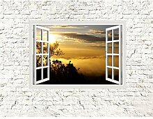 Fototapete Fensterblick Sunset Vlies Wand Tapete