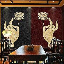 Fototapete Finger Lotus Buddha 3D Wandbild Tapete
