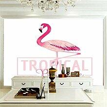 Fototapete Flamingo 350CM x 256CM Vlies Tapete
