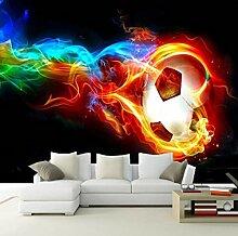 Fototapete Flamme Fußball Moderne Wandbild Tapete