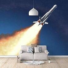 Fototapete Fliege in den Weltraum Mauer Fresco