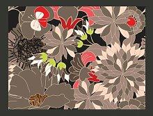 Fototapete florales Motiv - grau 154 cm x 200 cm