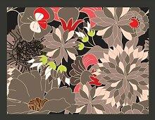 Fototapete florales Motiv - grau 309 cm x 400 cm