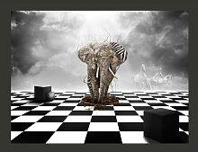 Fototapete Flucht aus Afrika 154 cm x 200 cm