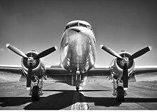 Fototapete Flugzeug 1.84 m x 254 cm East Urban Home