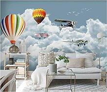 Fototapete Flugzeugballon mit blauem Himmel und