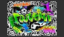 Fototapete Football Graffiti 245 cm x 350 cm