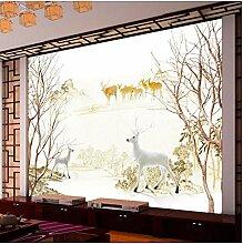 Fototapete Forest Green Oxygen Bar Kabine Deer
