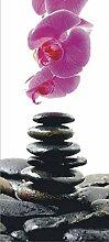 Fototapete FTNv2857 Photomurals Steine und Orchidee