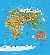 Fototapete FTNxl 2540 Vlies Fototapete Weltkarte