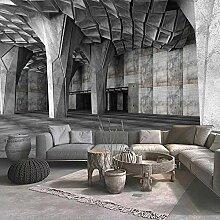 Fototapete Für Wände 3D Extended Space Cement