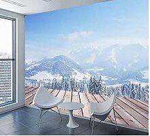 Fototapete für Wand 3d Wohnzimmer Naturschnee