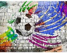 Fototapete Fussball 396 x 280 cm Vlies Wand Tapete