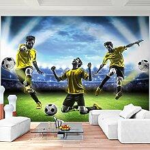 Fototapete Fussball 396 x 280 cm - Vliestapete - Wandtapete - Vlies Phototapete - Wand - Wandbilder XXL - Runa Tapete 9049012a