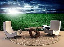 Fototapete Fußballplatz auf Gras Mauer Fresco