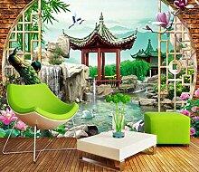 Fototapete Garten Pfau 3D Vlies Tapete Moderne