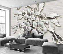 Fototapete Geprägte Blumen 3D Tapeten Wandbilder
