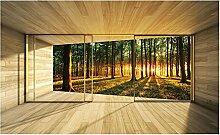 Fototapete Giant Nature Forest Woods Fenster Effekt Wand Wandbild (3307ve), 208cm x 146cm (WxH)