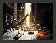 Fototapete Giraffe in einer großen Stadt 193 cm x