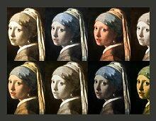 Fototapete Girl with a pearl earring (Pop Art) 270